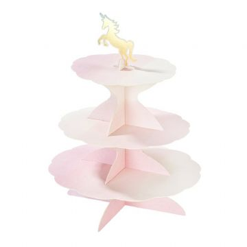 3 Tier Reversible Cake Stand, Birthday, Mermaid, Unicorn & Swan